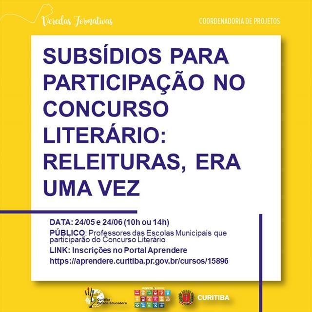 SUBSÍDIOS PARA PARTICIPAÇÃO NO CONCURSO LITERÁRIO: