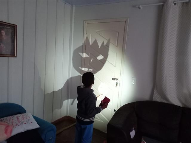 Guernaldo brincando com as sombras