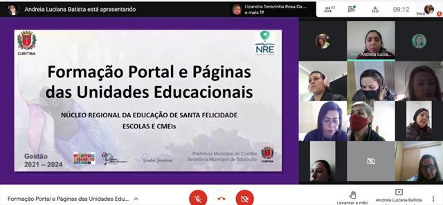 Formação Portal e Páginas das Unidades Educacionais de Santa Felicidade