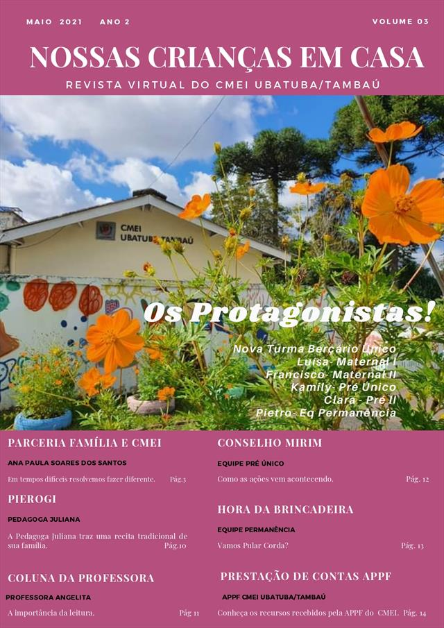 """Revista Virtual """"Nossas Crianças em Casa"""""""