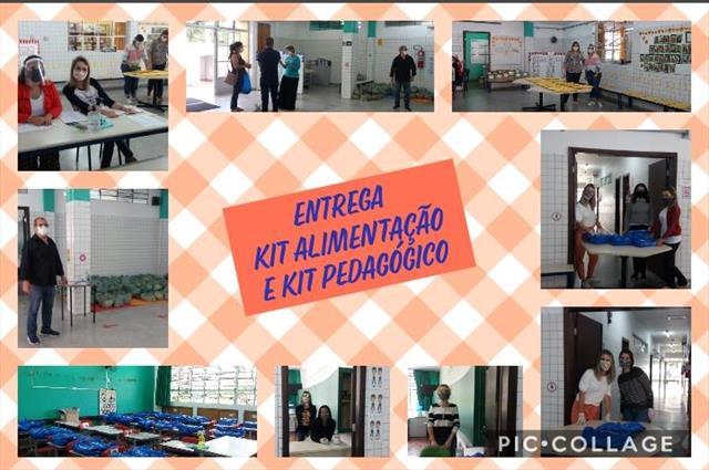 ENTREGA DE KIT DE ATIVIDADES E KIT ALIMENTAÇÃO