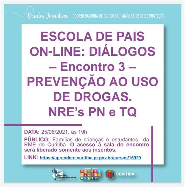 Escola de Pais On-line - NRE TQ e NRE PN