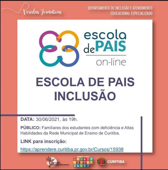 ESCOLA DE PAIS - INCLUSÃO