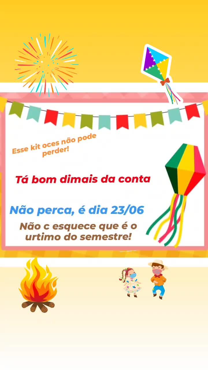 Kit Pedagógico Junino!!!