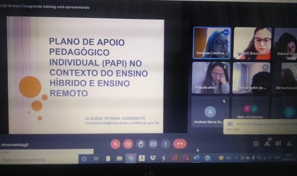 FORMAÇÃO CONTINUADA: PLANO  DE APOIO PEDAGÓGICO INDIVIDUAL