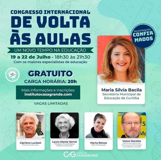 CONGRESSO INTERNACIONAL DE VOLTA ÀS AULAS