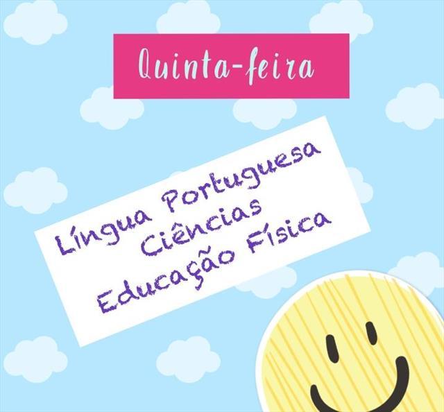 VIDEOAULAS - QUINTA-FEIRA