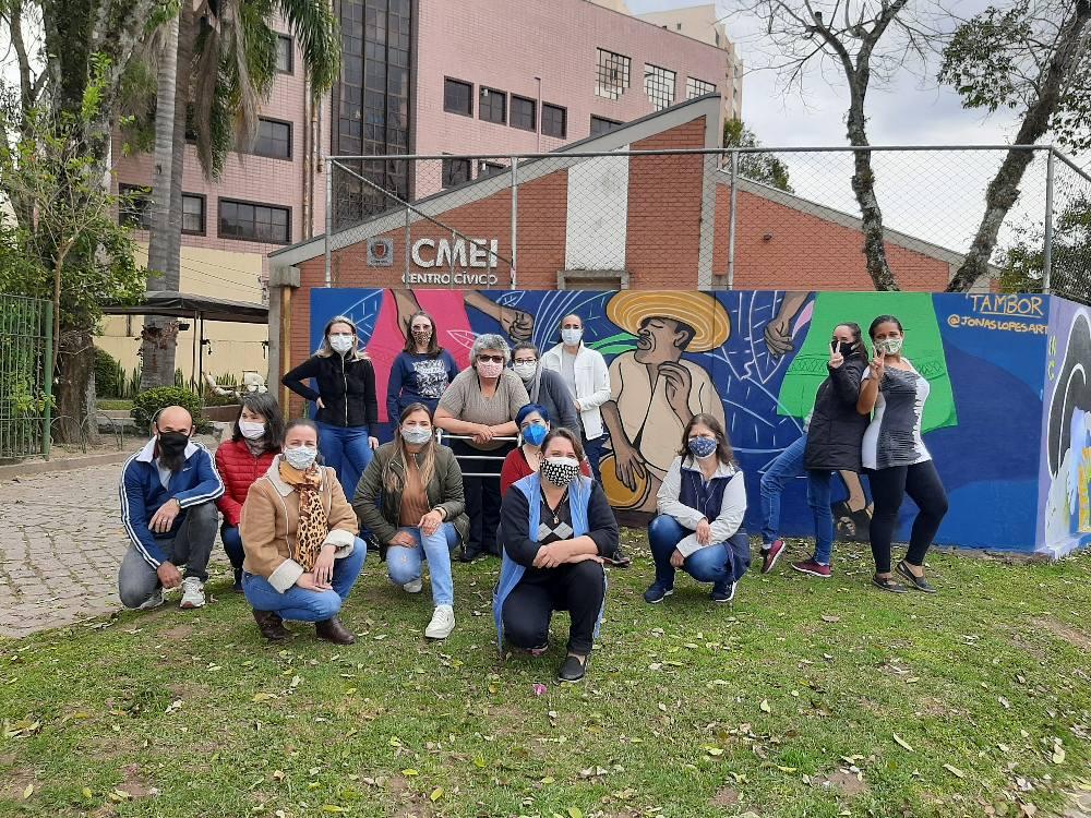 Arte Urbana nos muros do CMEI