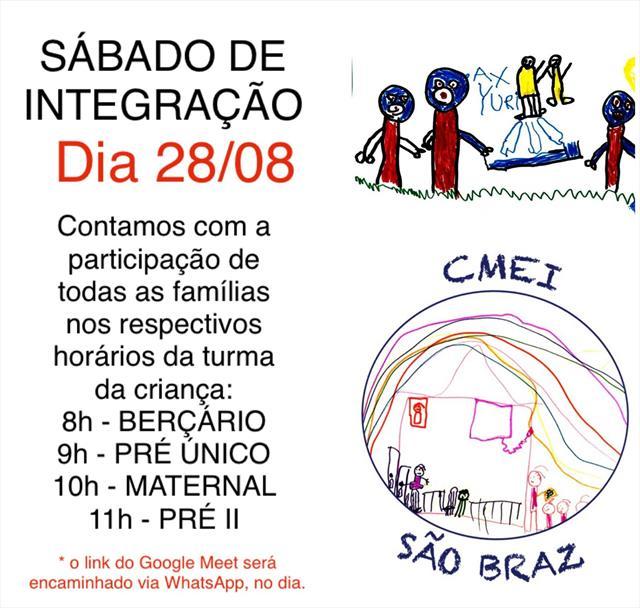 Sábado de Integração com as Famílias - AGOSTO