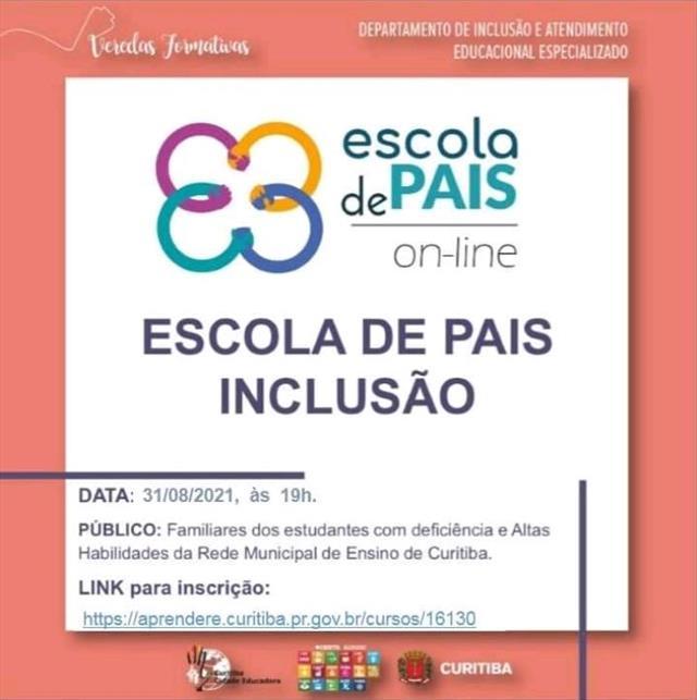 ESCOLA DE PAIS ON-LINE: INCLUSÃO