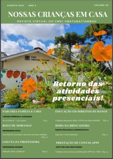 """Revista Virtual """"Nossas Crianças em Casa"""" Agosto/2021"""