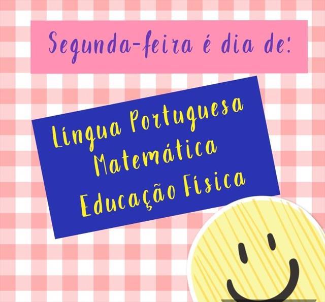 VIDEOAULAS - SEGUNDA-FEIRA